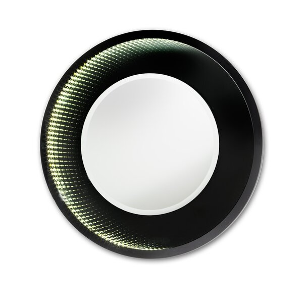 Beadle Magic LED Infinity Round Medium Gloss Accent Mirror by Ivy Bronx
