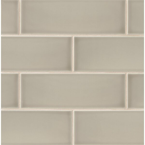 Leila 4 x 12 Ceramic Subway Tile in Taupe by Grayson Martin