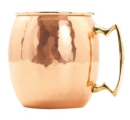 Olanta Moscow Mule 18 Oz. Hammered Mug (Set of 4) by Mint Pantry