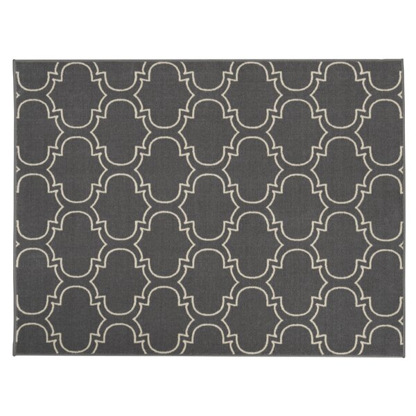 Somerford Rubberback Gray Indoor/Outdoor Area Rug by House of Hampton