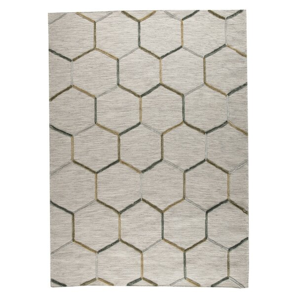 Khema 2 Hand-Woven Gray Area Rug by M.A. Trading