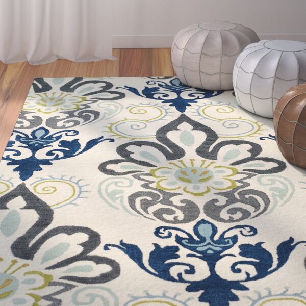 Rachida Hand Tufted Blue/Gray Area Rug by Bungalow Rose