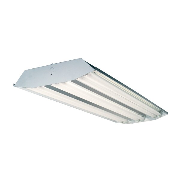 4-Light High Bay Fluorescent Light Fixture by Howard Lighting