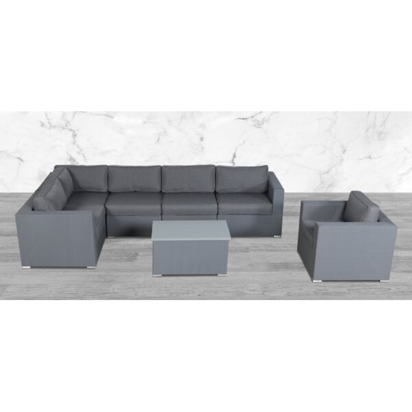 Frith 7 Piece Sectional Seating Group with Cushions by Orren Ellis