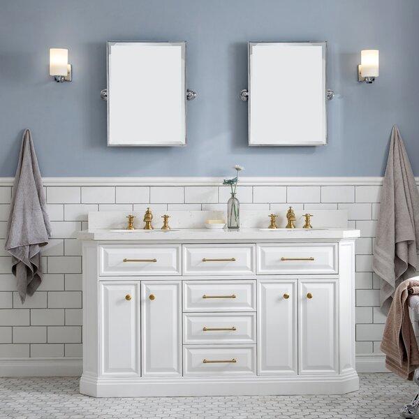 Oliphant Quartz 60 Double Bathroom Vanity Setwith Mirror