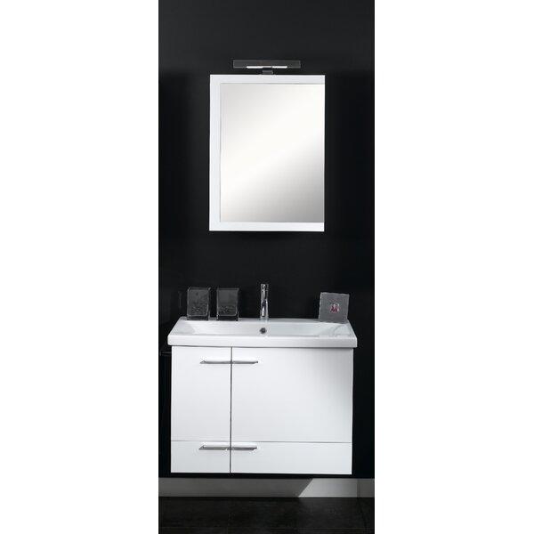 Simple 32 Single Wall Mounted Bathroom Vanity Set with Mirror by Iotti by Nameeks