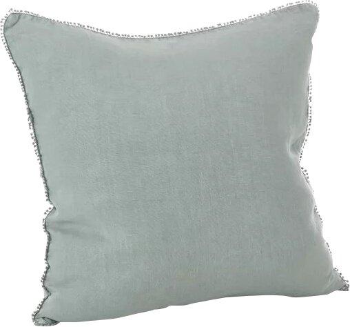 Pomponin Linen Throw Pillow