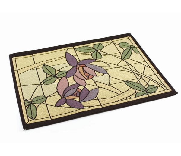 Arts and Crafts Flowers and Vines Placemat (Set of 4) by Rennie & Rose Design Group