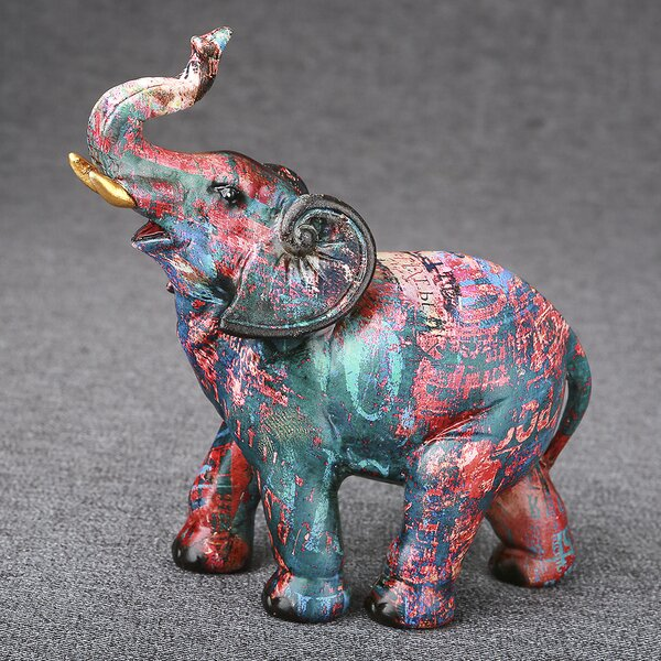 Murdoch Graffiti Elephant Figurine by Bloomsbury Market