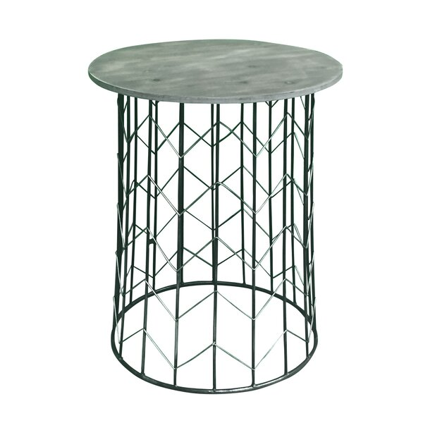 Pflugerville Chevron Metal End Table (Set of 2) by Gracie Oaks