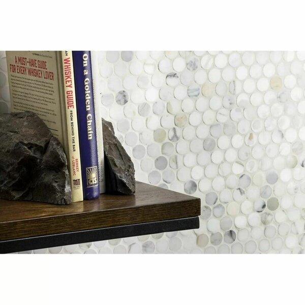 Carrera 12 x 12 Natural Stone Mosaic Sheet Tile