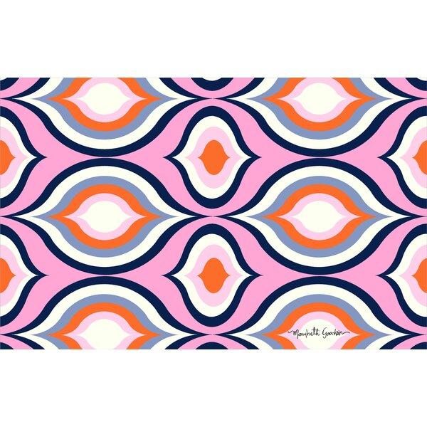 Britney Pink Geo Area Rug by Manual Woodworkers & Weavers