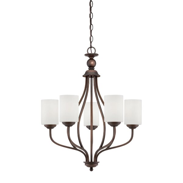 Thaxted 5 - Light Shaded Classic / Traditional Chandelier By Fleur De Lis Living