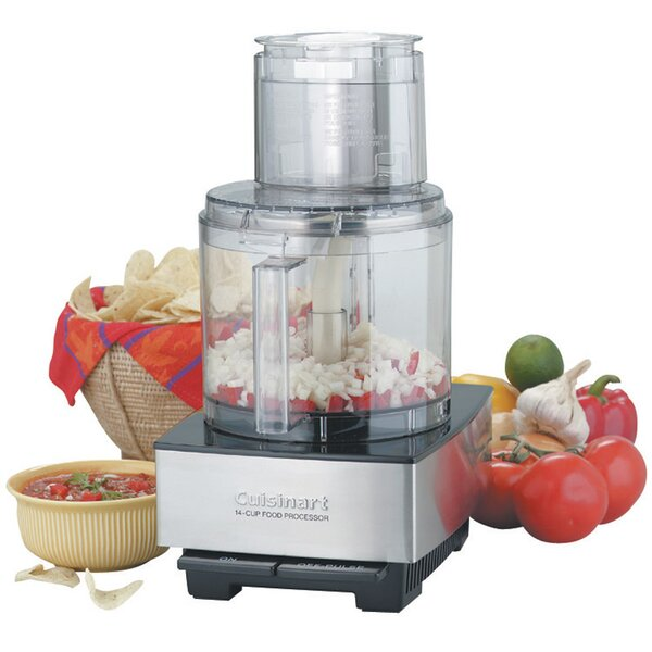 4-Cup Brushed Food Processor by Cuisinart