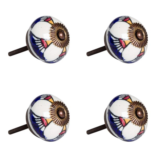 Handpainted Round Knob (Set of 4) by Taj Hotel