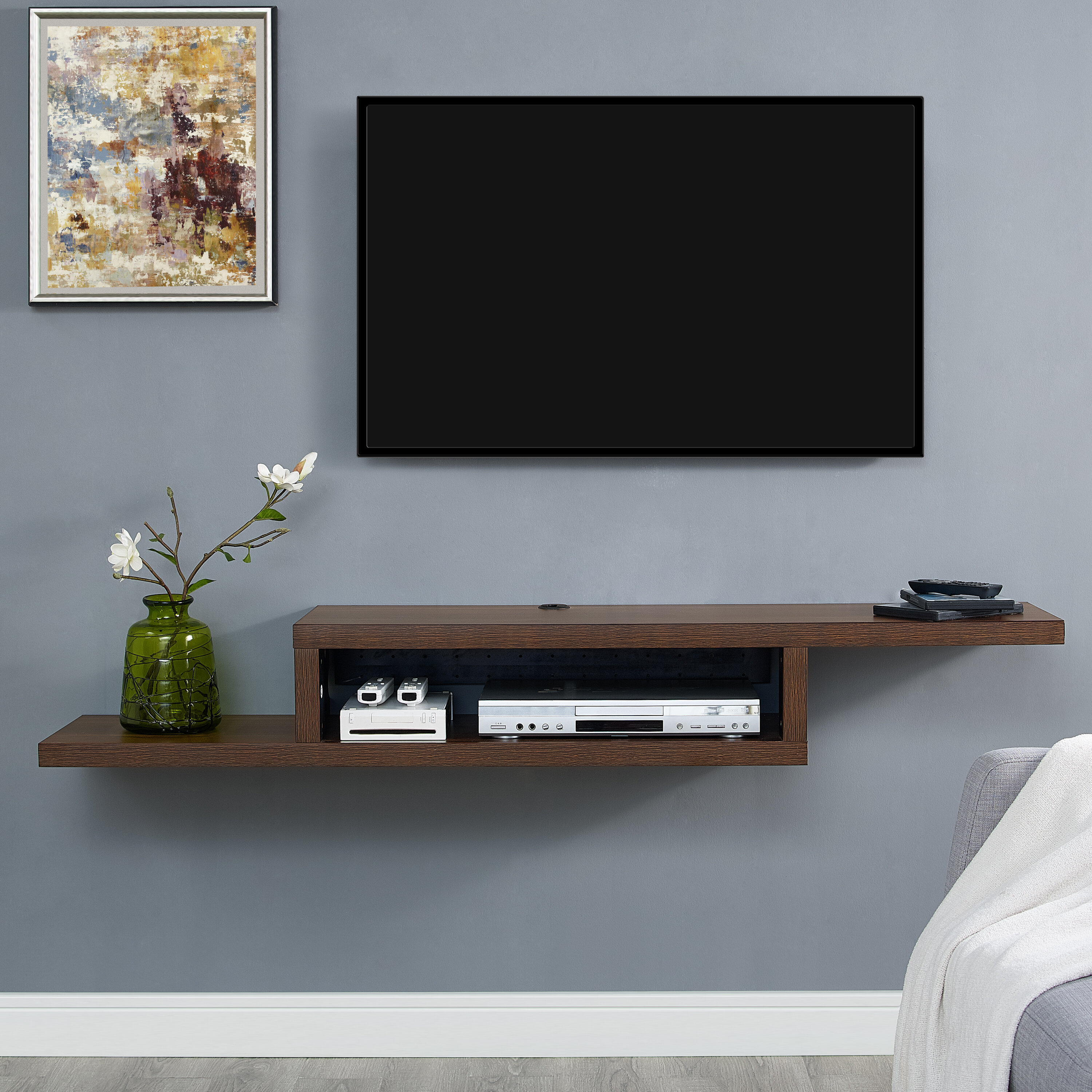 component tv ct of gallery img cheap sectional shelf with shelves wall installation mounted wallmounted on fairfield