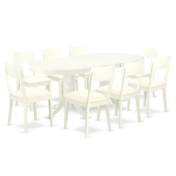 Kleisthenes 9 Piece Extendable Solid Wood Dining Set by Winston Porter Winston Porter