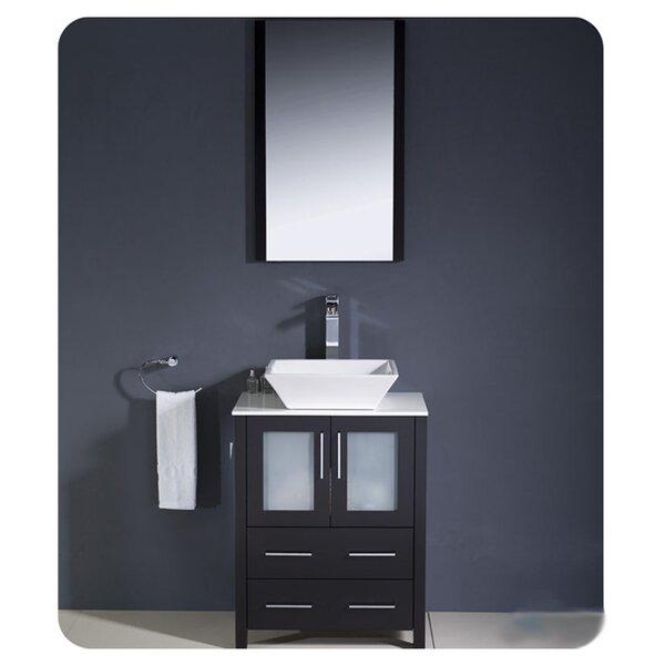 Torino 24 Single Bathroom Vanity Set with Mirror by Fresca