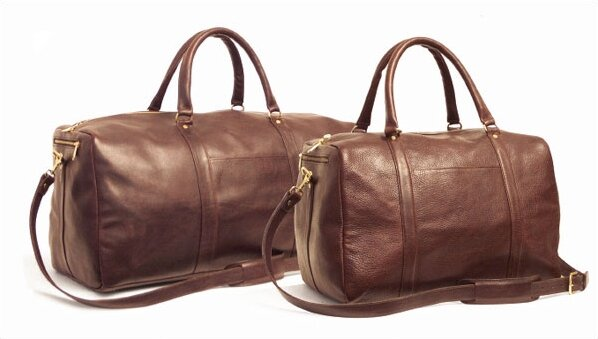24 Leather Travel Duffel by Aston Leather