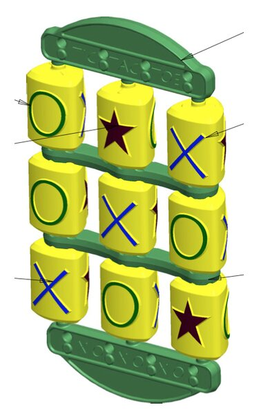 Tic Tac Toe Swing Set Toy by YardCraft