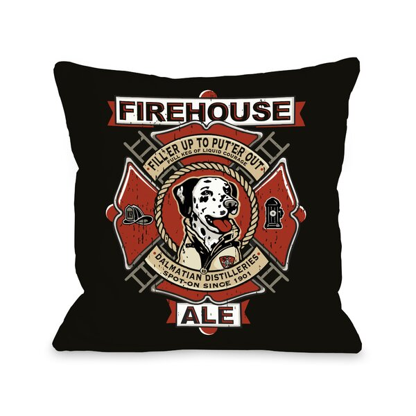 Doggy Décor Firehouse Ale Throw Pillow by One Bella Casa
