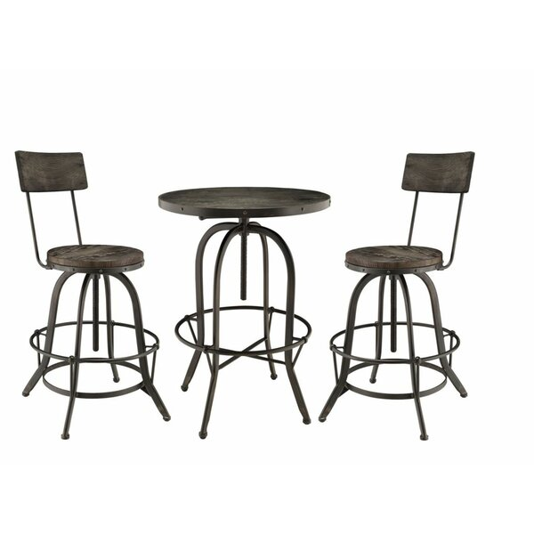 Gather 3 Piece Dining Set by Modway Modway