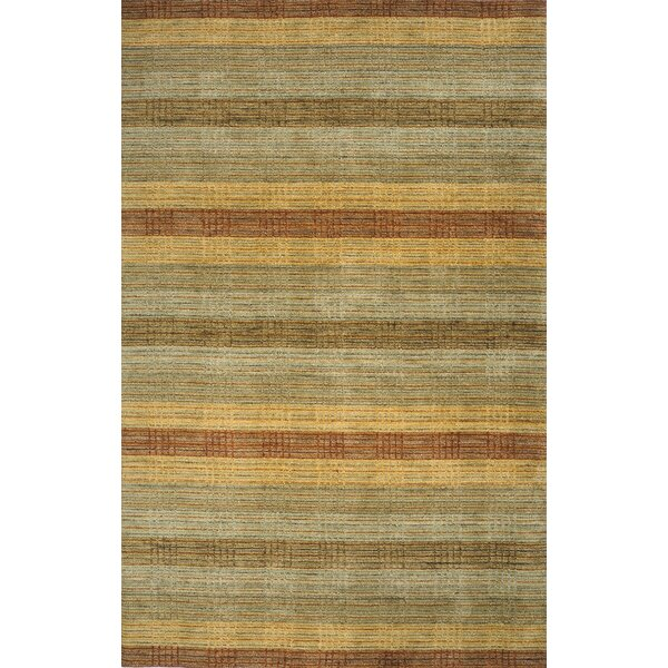 Donaghy Hand-Woven Green Wool Area Rug by Ebern Designs