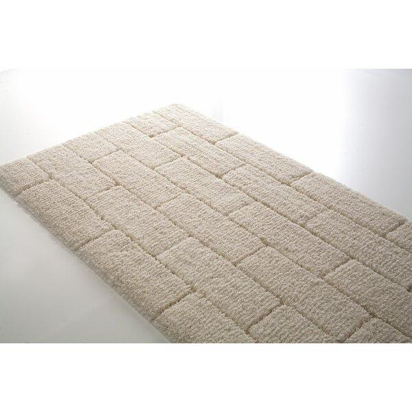 Munson Brick Rectangle 100% Cotton Geometric Bath Rug