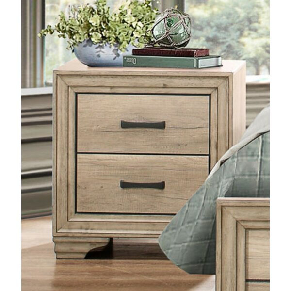 Thigpen Wooden 2 Drawer Nightstand by Union Rustic