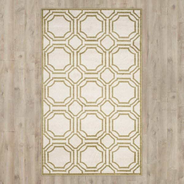 Maritza Ivory/Light Green Indoor/Outdoor Area Rug by Willa Arlo Interiors