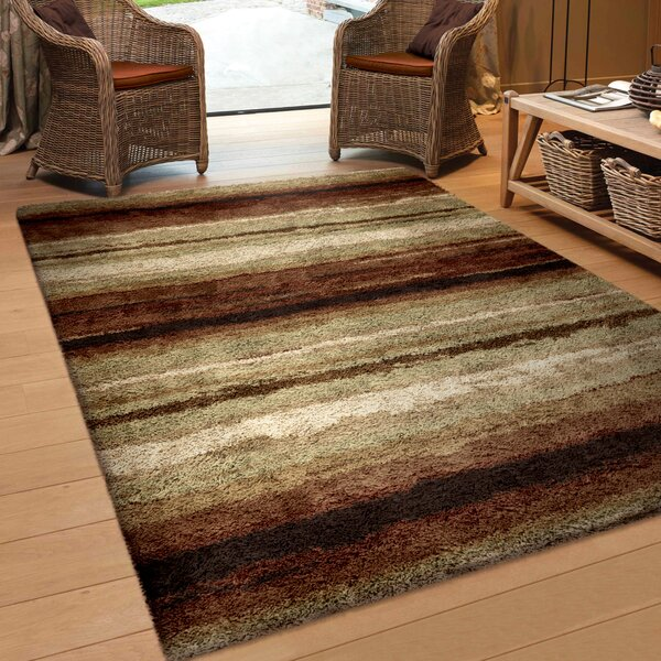 Antonia Red/Beige Area Rug by Threadbind