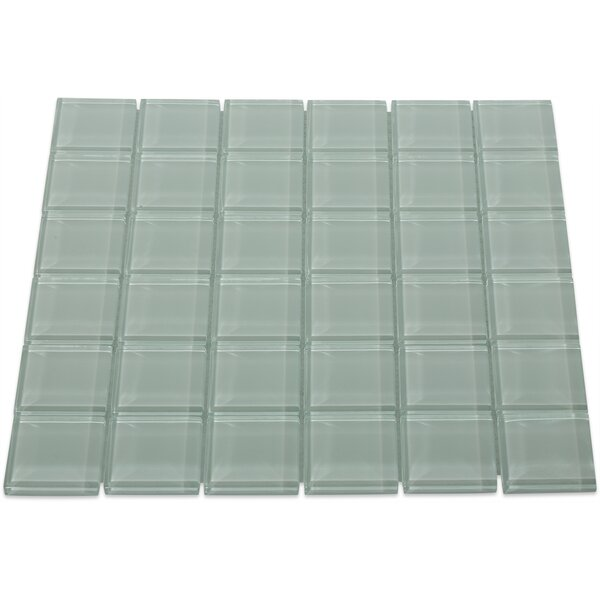 Contempo 2 x 2 Glass Mosaic Tile in Seafoam by Splashback Tile