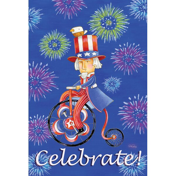 Celebrate Uncle Sam 2-Sided Garden flag by Toland Home Garden