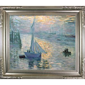 Sunrise, The Sea by Claude Monet Framed Painting Print by Tori Home