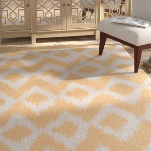 Top Brands of Arbuckle Hand-Tufted Butter/White Area Rug ByBungalow Rose