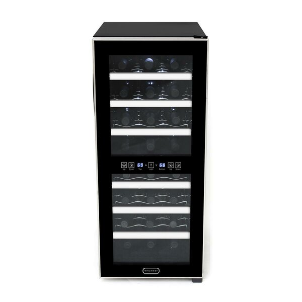 24 Bottle Dual Zone Freestanding Wine Cooler by Whynter