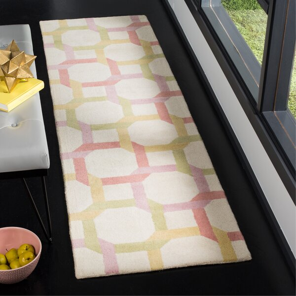 Tufted-Hand-Loomed Yellow/Red/Green Area Rug by Martha Stewart Rugs