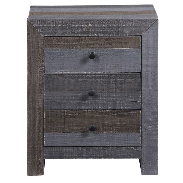 Ozbourn 3 Drawer Nightstand by Millwood Pines