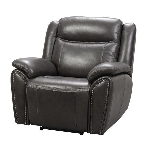 Alejandro Leather Power Recliner [Red Barrel Studio]