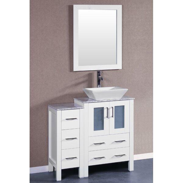Figi 36 Single Bathroom Vanity Set with Mirror by Bosconi