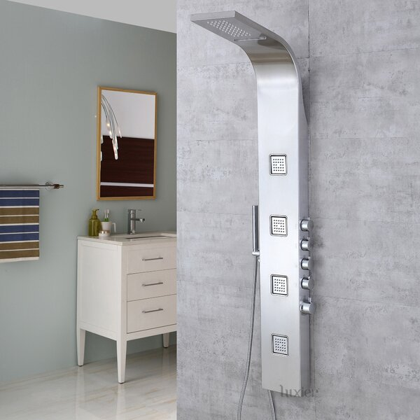 Massage Tower Rain Shower Panel by Luxier
