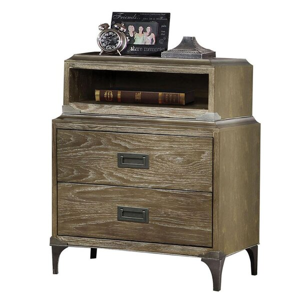 Kisner 2 Drawer Nightstand by Gracie Oaks