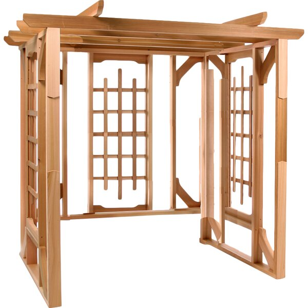 7 Ft. W x 6 Ft. D Solid Wood Pergola by All Things Cedar