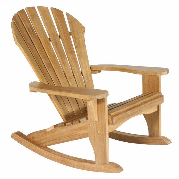 Wanda Atlantic Solid Wood Rocking Adirondack Chair by Loon Peak Loon Peak