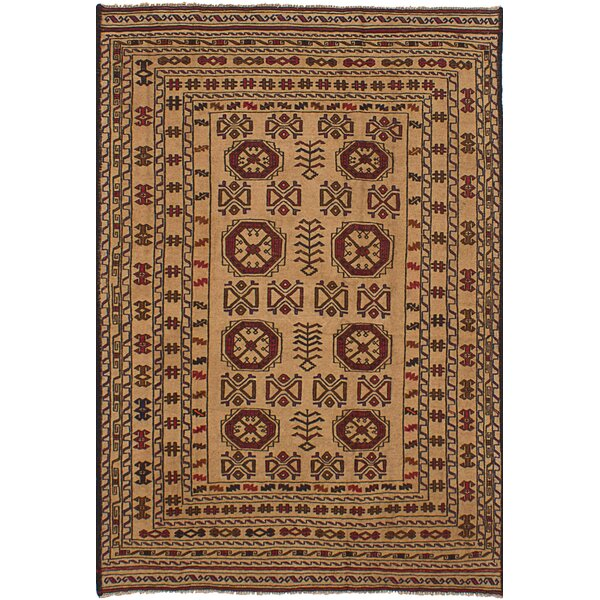 One-of-a-Kind Mcdonell Hand-Woven Wool Red/Brown Area Rug by Bloomsbury Market