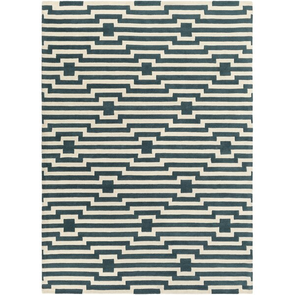 Zeitz Hand-Tufted Blue Area Rug by George Oliver