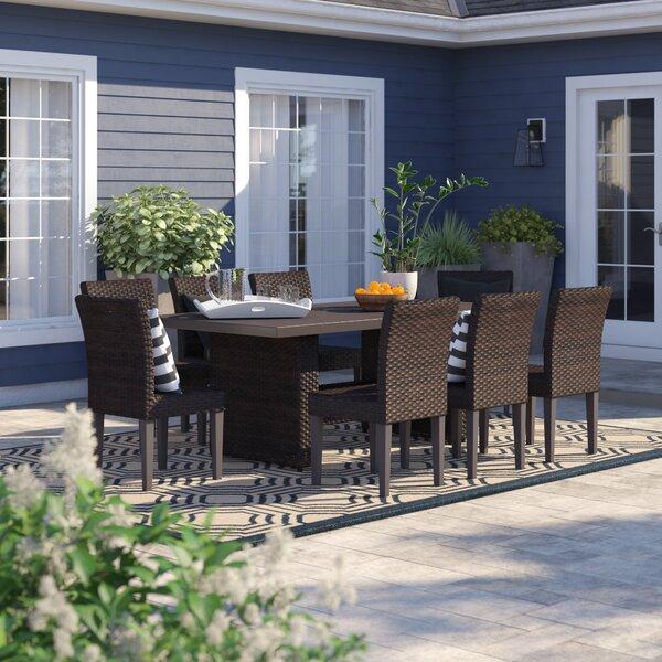 Tegan 9 Piece Outdoor Patio Dining Set by Sol 72 Outdoor