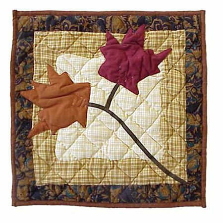 Autumn Leaves Cotton Throw Pillow by Patch Magic