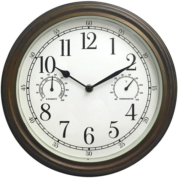 Chaz 12 Wall Clock by Charlton Home