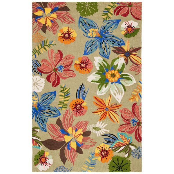 Hayes Hand-Hooked Olive Area Rug